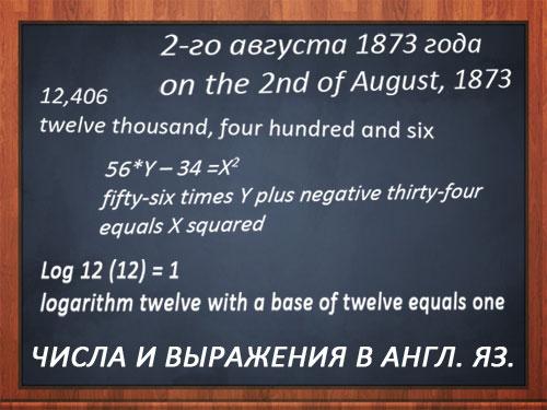 Картинка: Как читать числа, даты и выражения в английском