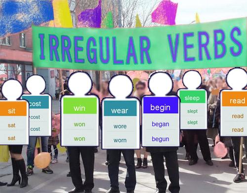Картинка: Неправильные глаголы английского языка